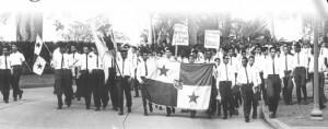Jóvenes estudiantes se toman en Municipio capitalino en 1958.