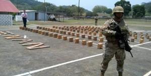 Cargamentos de drogas incautado por el SENAN en Panamá.