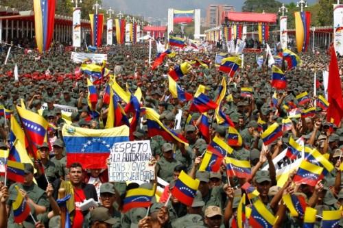 Movilización de la alianza cívico militar en Venezuela.