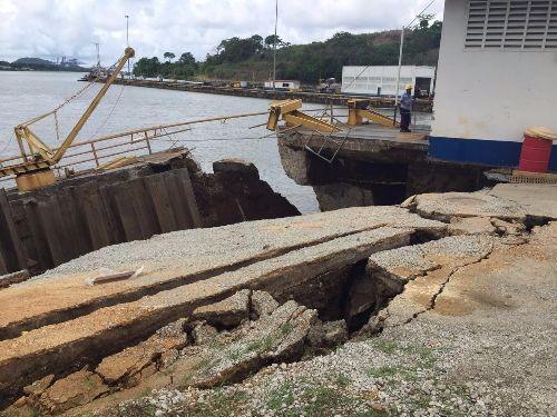 La ACP inicia plan de reparación en la esclusa de Miraflores.