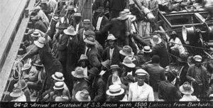 Zapadores del Canal de Panamá procedente de Barbados