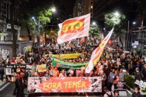 Las manifestaciones contra el presidente interino Michel Temer y su gobierno le han acompañado desde que ocupó el poder el 12 de mayo en Brasil. (Foto: Fernando Frazão / Agência Brasil).