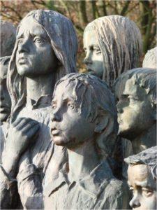 Monumento a las víctimas de los nazis en Lídice. (Crédito de la imagen usuario de Flickr donaldjudge).
