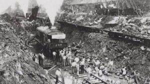 Antiguos trabajadores en el Canal de Panamá.