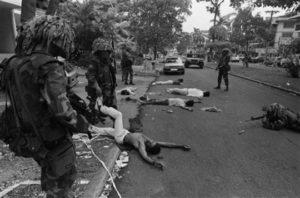 Tropas de Estados Unidos acribillaron al pueblo panameño.