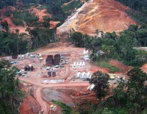 Devastación a la vista, en operaciones de Petaquilla Gold. (Foto: La Estrella de Panamá).