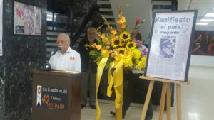 Edelberto Méndez primer primer jefe de Redacción de Bayano. (Foto inauguración de la Expo Bayano)