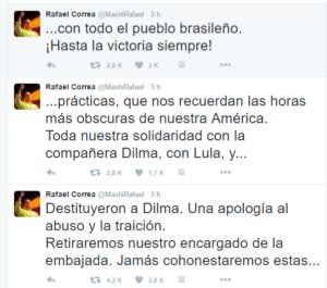 Tweet Rafael Correa