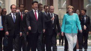 Líderes mundiales en la Cumbre del G20 en la ciudad china de Hangzhou.