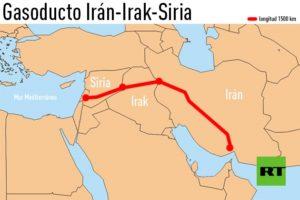 El mapa revela la conflictiva tuta del oleoducto.