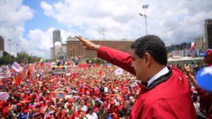 Movilización de respaldo al presidente Nicolás Maduro.