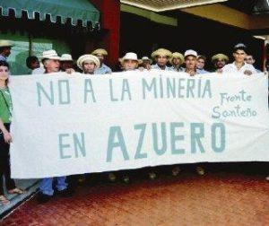 Manifestantes rechazan la minería a cielo abierto en la región central de Azuero.