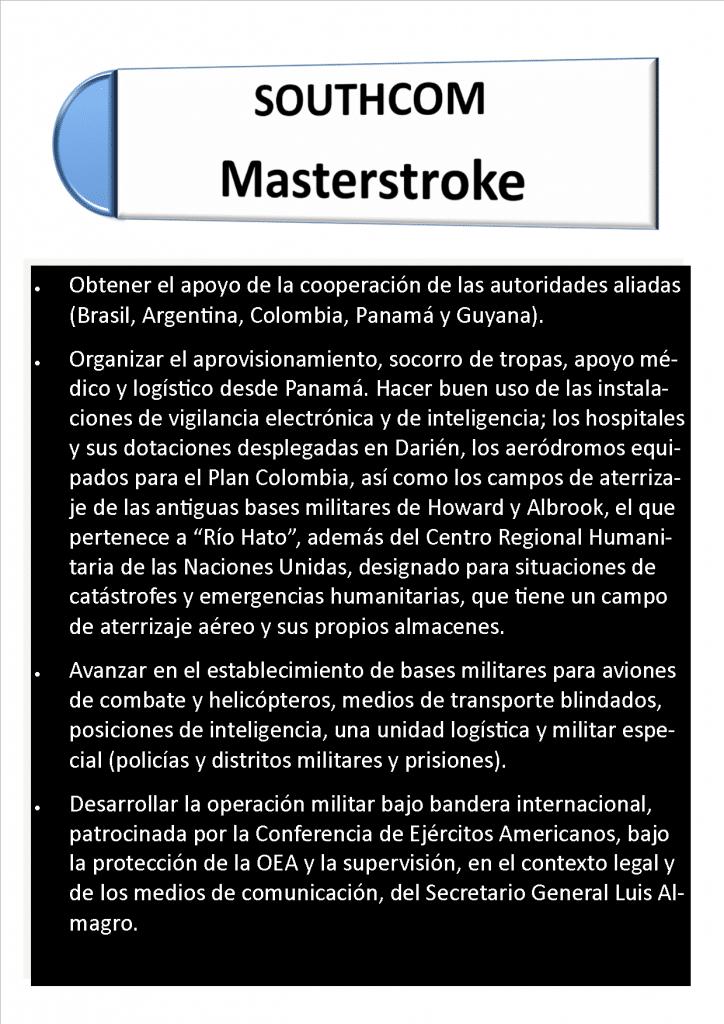 Plan Maestro del Comando Sur (traducción libre de Bayano digital)